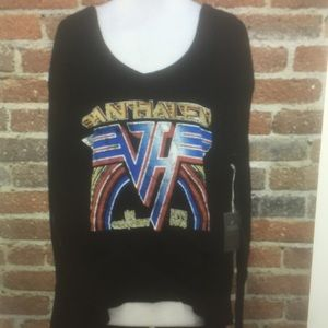 Van Halen trunk Ltd thermal oversized deep v nick